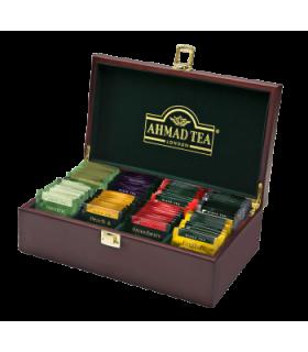 Ahmad tea جعبه چوبی کادویی چای حاوی 80 عدد تی بگ احمد انگلستان