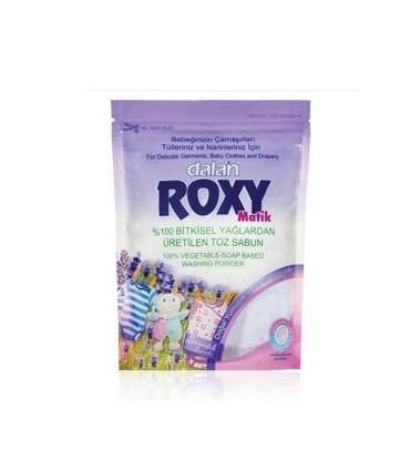 Roxy پودرصابون رایحه گل اسطوخودوس لباس کودک ماشینی 800 گرمی رکسی