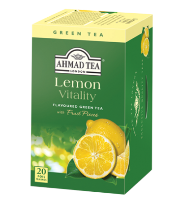 Ahmad Tea چای سبز کیسه ای با تکه های لیمو احمد انگلستان