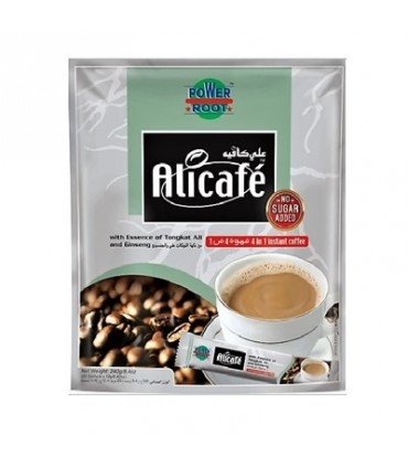 Alicafe قهوه فوری جینسینگ دار رژیمی (بدون قند) 20 عددی علی کافه