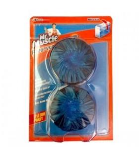 Mr Mascle قرص دوقلوی تمیز کننده و خوشبو کننده فلش تانک توالت مستر ماسکل