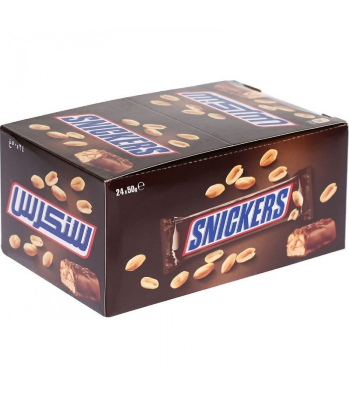 Snickers پک 24 عددی شکلات کاراملی اسنیکرز