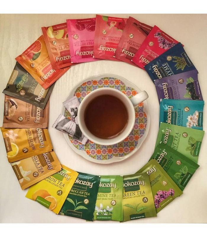 Alokozay جعبه چوبی کادویی چای حاوی 72 عدد تی بگ چای الوکزی