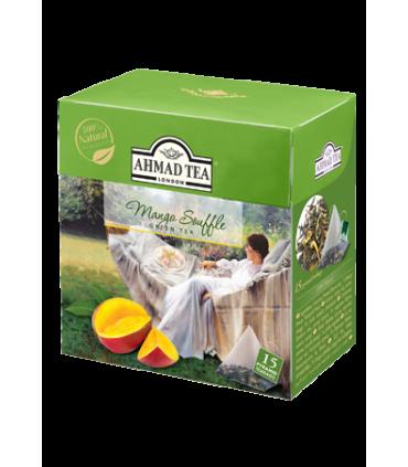 Ahmad tea چای سبز کیسه ای با طعم سوفله انبه احمد انگلستان