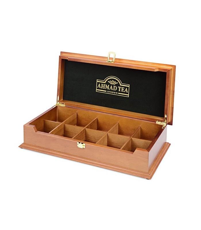 Ahmad tea جعبه چوبی کادویی چای حاوی 100 عدد تی بگ احمد انگلستان