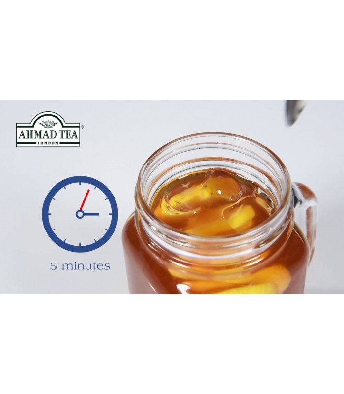 Ahmad Tea پک آیس تی لیمو و لایم و چای انگلیسی همراه با ماگ مخصوص درب دار چای احمد انگلستان