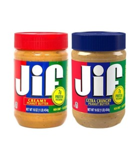 Jif پک دو عددی کره بادام زمینی کرانچی (با تکه های بادام زمینی) و کره بادام زمینی کرمی (بدون تکه های بادام زمینی) جیف