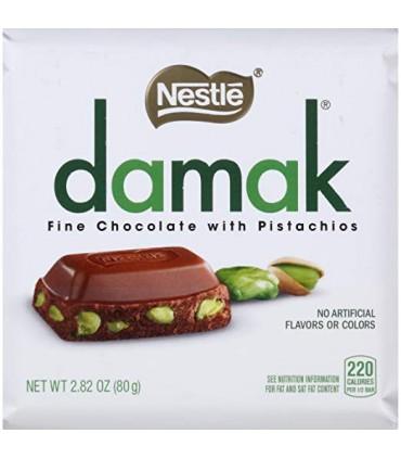 شکلات پسته ای 80 گرمی داماک