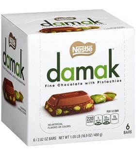 Nestle پک 6 تایی شکلات شیری پسته ای 80 گرمی داماک نستله