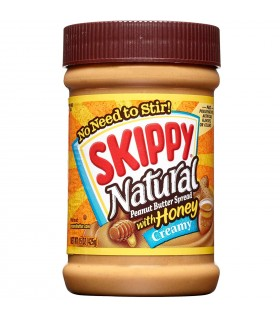 Skippy کره بادام زمینی کرمی عسلی ارگانیک و بدون گلوتن 425 گرمی اسکیپی