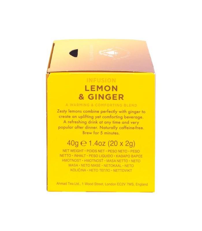 Ahmad Tea دمنوش لیمو و زنجبیل 20 عددی احمد تی