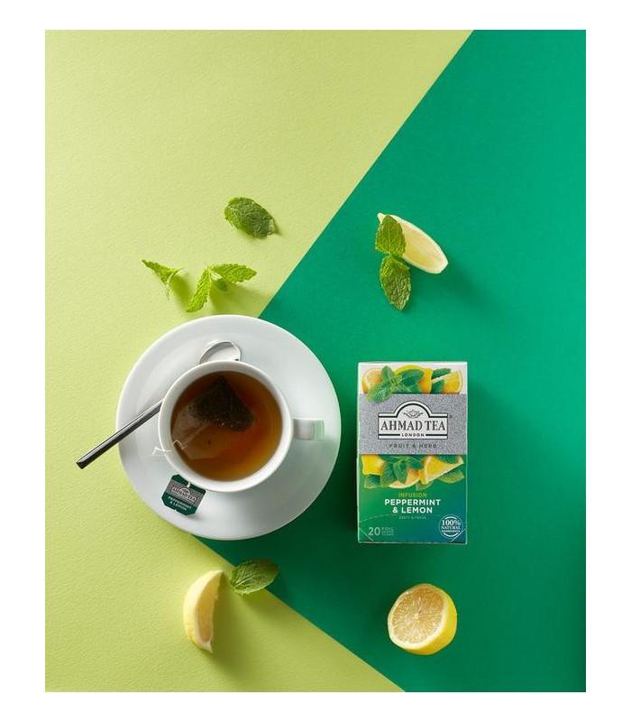 Ahmad Tea دمنوش نعنا فلفلی و لیمو 20 عددی احمد تی