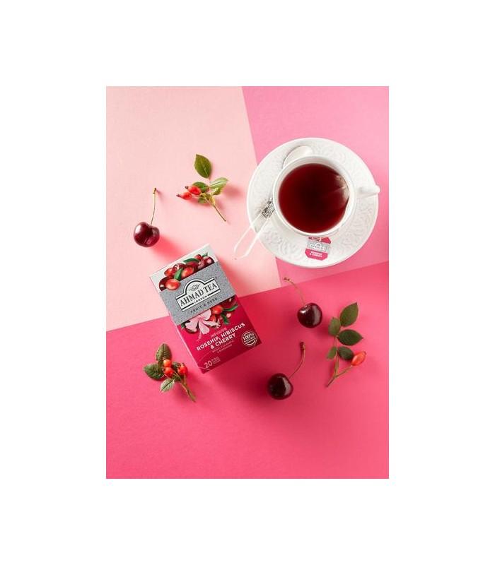 Ahmad Tea دمنوش رزهیپ، چای ترش و گیلاس 20 عددی احمد تی