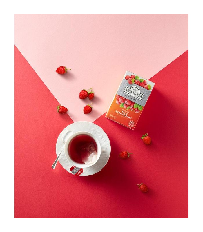 Ahmad Tea دمنوش توت فرنگی وحشی 20 عددی احمد تی