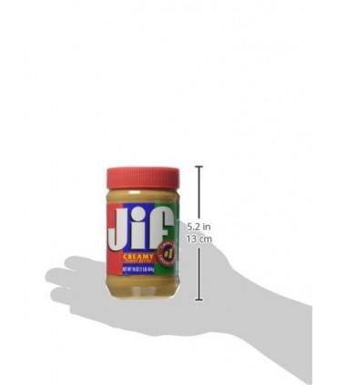 Jif کره بادام زمینی کرمی (بدون تکه های بادام زمینی) جیف