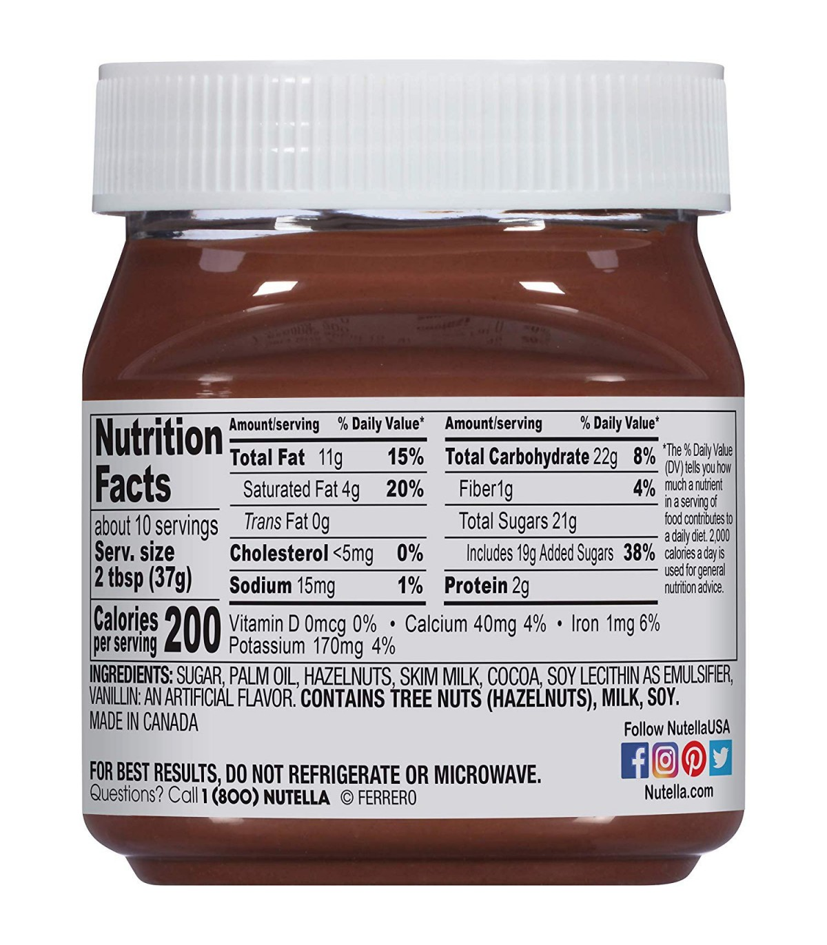 Nutella شکلات صبحانه 350 گرمی نوتلا