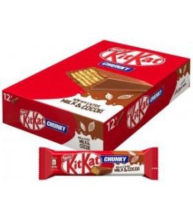 Kit kat پک 12 عددی شکلات چانکی 40 گرمی کیت کت