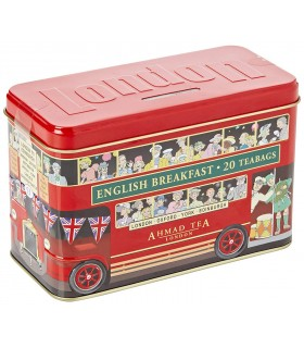 Ahmad Tea چای جعبه فلزی اتوبوس لندن 20 عددی احمد تی