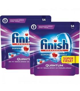 Finish پک 2 عددی قرص ماشین ظرفشویی کوآنتوم 54 عددی فینیش