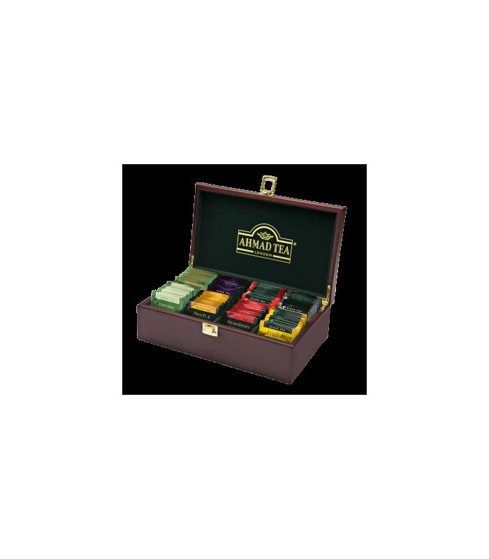 Ahmad tea جعبه چوبی کادویی چای حاوی 80 عدد تی بگ احمد انگلستان |
