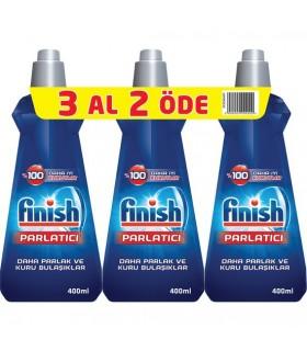Finish پک 3 عددی جلا دهنده ماشین ظرفشویی 400 میلی لیتر فینیش