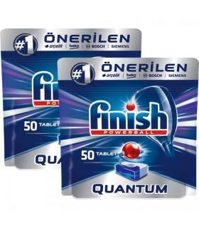 Finish قرص ماشین ظرفشویی کوآنتوم 50 عددی 2 عددی فینیش