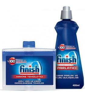 Finish پک جرم گیر کلاسیک کتابی 250 میلی لیتر فینیش و جلا دهنده کلاسیک 400 میلی لیتر  ماشین ظرفشویی فینیش