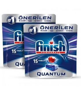 Finish پک 2 عددی قرص ماشین ظرفشویی کوآنتوم 15 عددی فینیش