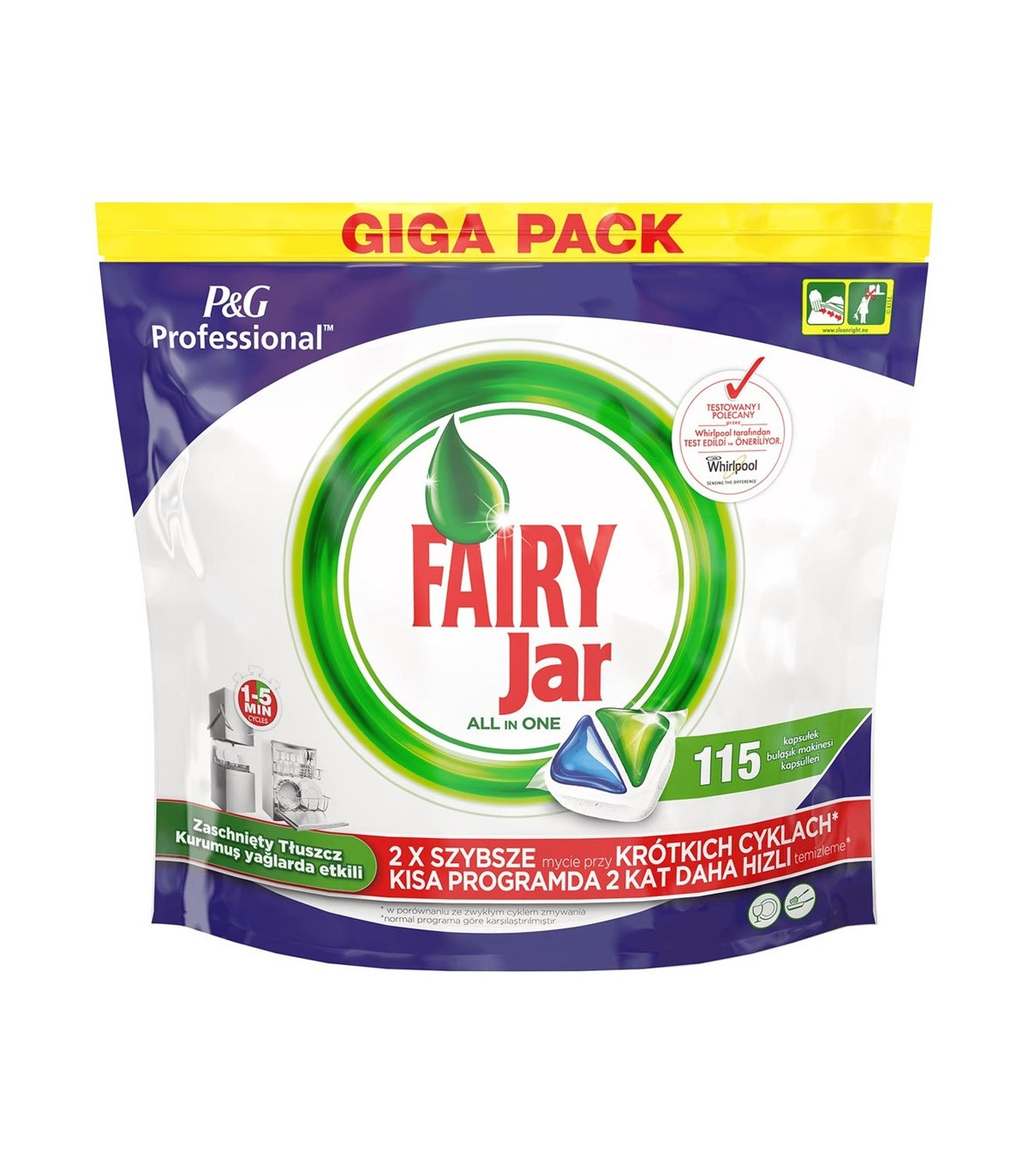 Fairy قرص ماشین ظرفشویی همه کاره جار 115 عددی فیری