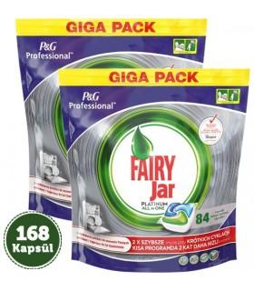 Fairy قرص ماشین ظرفشویی جار پلاتینوم همه کاره 84 عددی 2 عددی فیری
