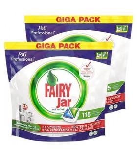 Fairy قرص ماشین ظرفشویی جار همه کاره 115 عددی 2 عددی فیری