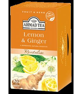 Ahmad Tea دمنوش طراوت بخش لیمو و زنجبیل 20 عددی احمد انگلستان