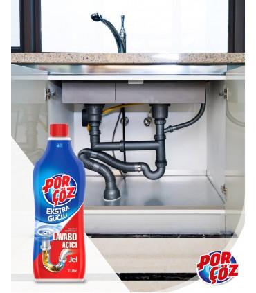Porcoz مایع لوله باز کن فوق قوی 1 لیتری پورچوز
