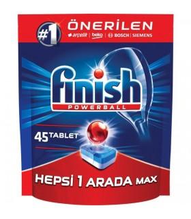 Finish قرص ماشین ظرفشویی همه کاره 45 عددی فینیش
