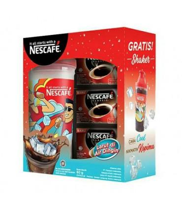 Necafe پک قهوه فوری کلاسیک 30 عددی به همراه شیکر مخصوص نسکافه