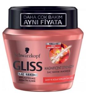 Gliss ماسک مو کراتینه تقویت کننده موهای ضعیف 300 میلی لیتر گلیس