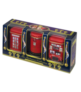 Ahmad Tea پک 3 عددی چای جعبه فلزی نمادهای لندن 75 گرمی احمد تی