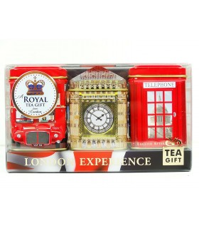 Ahmad Tea پک 3 عددی چای جعبه فلزی نمادهای لندن 140 گرمی احمد تی