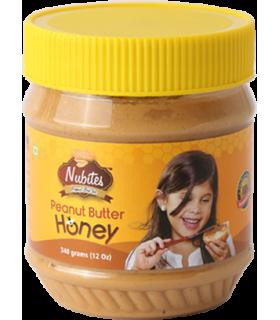 Nubites کره بادام زمینی عسلی 340 گرمی نوبایتز