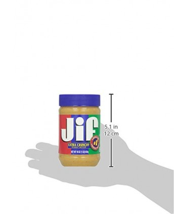Jif کره بادام زمینی کرانچی (با تکه های بادام زمینی) جیف