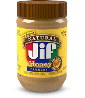 Jif کره بادام زمینی کاملا طبیعی عسلی کرانچی جیف
