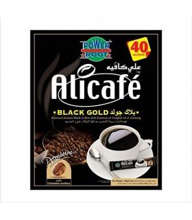 Alicafe قهوه فوری جینسینگ دار بلک گلد 40 عددی علی کافه