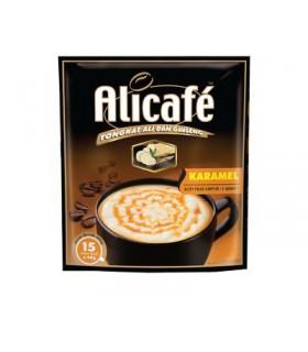 Alicafe قهوه فوری جینسینگ دار کاراملی 15 عددی علی کافه