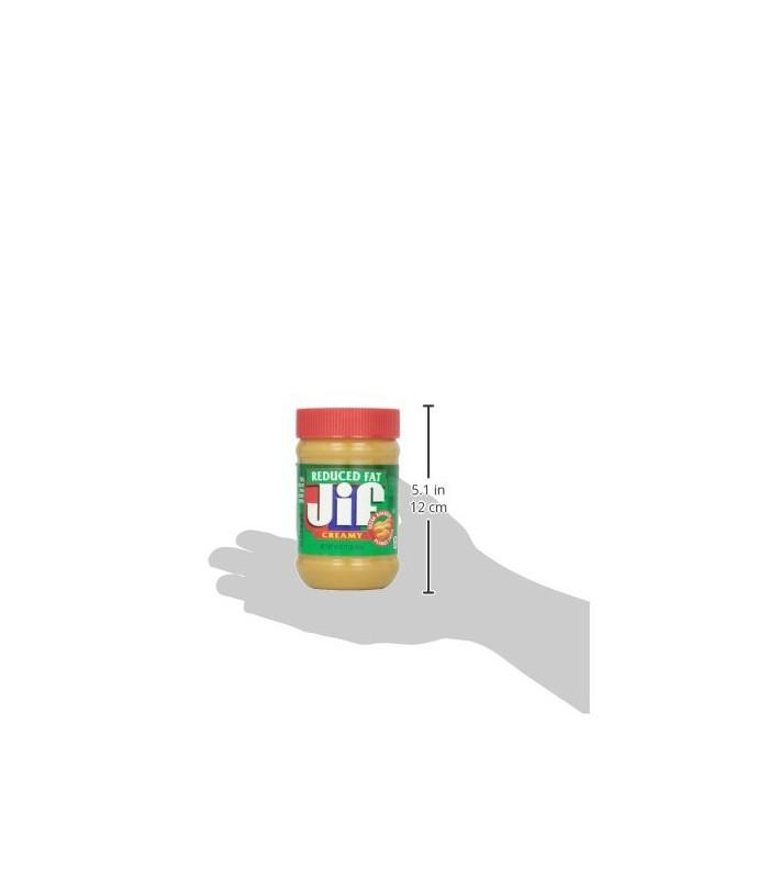 Jif کره بادام زمینی کرمی (بدون تکه های بادام زمینی) کم چربی جیف