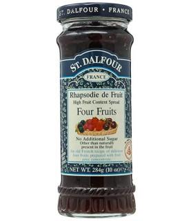 St Dalfour مربای صد در صد خالص چهار میوه 283 گرمی سنت دالفور