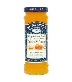 St Dalfour مربای صد در صد خالص پرتقال و زنجبیل 283 گرمی سنت دالفور