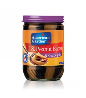American Garden کره بادام زمینی با مربای انگور 510 گرمی امریکن گاردن
