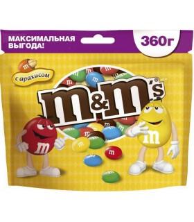 M&M's دراژه شکلات و بادام زمینی 360 گرمی ام اند امز