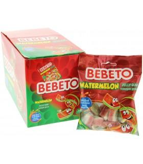 Bebeto پک 12 عددی پاستیل هندوانه 80 گرمی ببتو