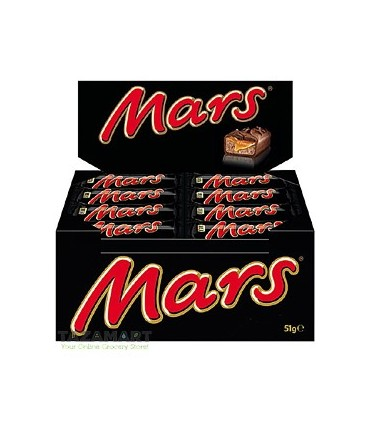 Mars پک 24 عددی شکلات 50 گرمی مارس